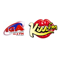 Logo of radio station RGA FM programme Kiss