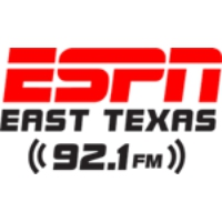 Logo of radio station KTBB FM ESPN 92.1FM