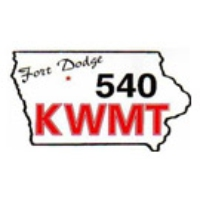 Logo of radio station KWMT