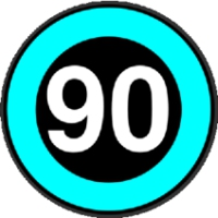 Logo of radio station Only90