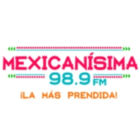 Logo of radio station XHYW Mexicanísima 98.9 FM