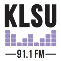 Logo of radio station 91.1 KLSU FM