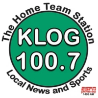 Logo of radio station 100.7 KLOG
