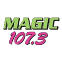 Logo of radio station KMJK Magic 107.3
