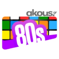 Logo de la radio Akous. 80s