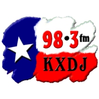 Logo of radio station KXDJ 98.3 FM