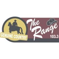 Logo of radio station KRAN 103.3. The Range