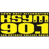 Logo of radio station KSYM 90.1