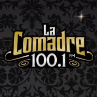 Logo of radio station XHNE La Comadre 100.1 FM