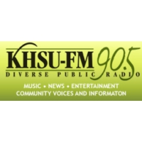 Logo of radio station KHSU 90.5