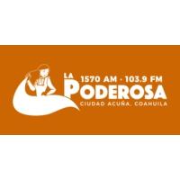 Logo of radio station XHRF La Poderosa 103.9 FM