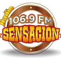 Logo of radio station XHRIO Radio Sensación 106.8 FM