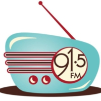 Logo of radio station KSQM 91.5 FM