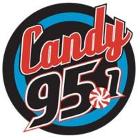 Logo of radio station KNDE Candy 95