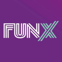 Logo of radio station FunX Arab