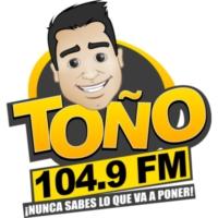 Logo de la radio XHLNC Toño FM 104.9