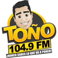 Logo of radio station XHLNC Toño FM 104.9