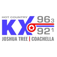 Logo of radio station KIX Hot Country