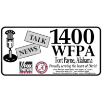Logo of radio station News Talk 1400 WFPA