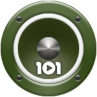 Logo de la radio 101.ru - Военная Песня