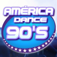 Logo of radio station América Dance 90's