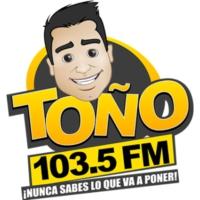 Logo de la radio XHRZ-FM Toño FM 103.5