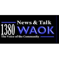 Logo of radio station WAOK News Talk 1380 AM