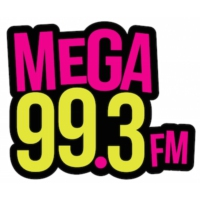 Logo of radio station KMGW Mega 99.3