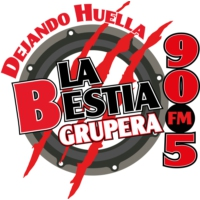 Logo of radio station XHECO La Bestia Grupera 90.5 FM