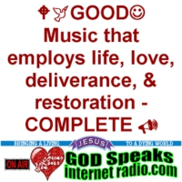 Logo of radio station GOD Speaks Internet Radio - :-) Come Worship Jesus with us! :-)