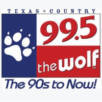 Logo of radio station 99.5 The Wolf