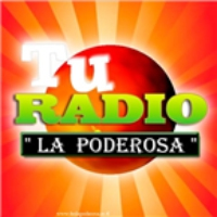 Logo of radio station La Poderosa 100.3