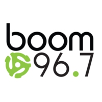 Logo of radio station CFXW-FM boom 96.7
