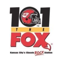 Logo of radio station KCFX 101 The FOX