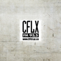 Logo of radio station CFLX