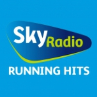 Logo of radio station Sky radio Running hits