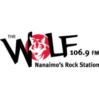 Logo of radio station 106.9 The Wolf