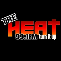 Logo de la radio The Heat 99.1 FM