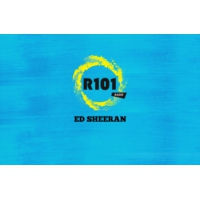 Logo of radio station R101 Ed Sheeran