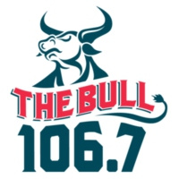 Logo of radio station 106.7 The Bull