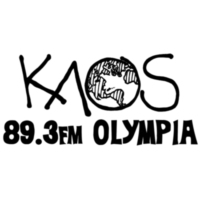 Logo of radio station KAOS 89.3 FM Olympia