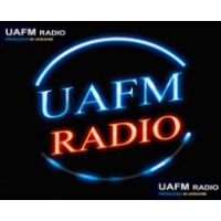 Logo of radio station UAFM