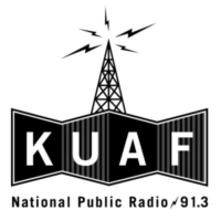 Logo of radio station KUAF 91.3 FM