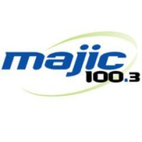 Logo of radio station KMJM Majic 100.3