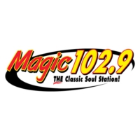 Logo of radio station KVMA Magic 102.9