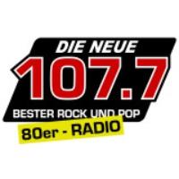 Logo of radio station Die Neue 107.7 mit dem 80er RADIO