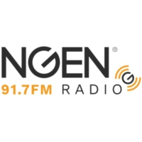 Logo of radio station KXNG 91.7 NGEN Radio
