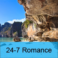 Logo of radio station 24-7 Romance