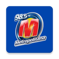 Logo of radio station Metropolitana 98.5 FM