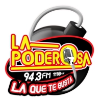 Logo of radio station La Poderosa 94.3 FM